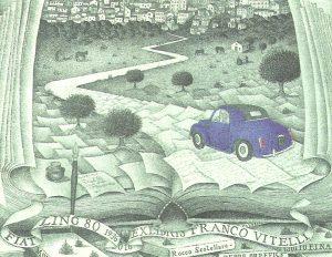 """Tarasco, Pitreo Paolo (I), A  Rocco Scatellaro – Italo Calvino a Tricarico in """"TOPOLINO"""" - Acquaforte (C3) – 2016, mm 103x137"""