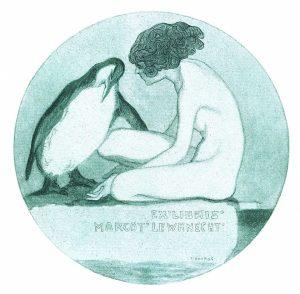 Lewknecht: Franz von Bayros (A) – 1916, eliografia, ø 79 mm