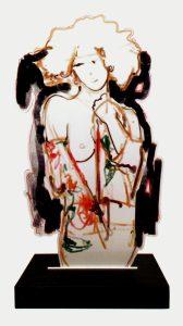 Elena - stampa lambda su acciaio sagomato, cm 65 x 35