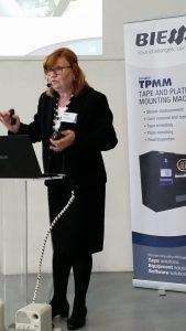 Angela Conti, Sales Mananger BiesSse illustra le caratteristiche e funzionalità del TPMM