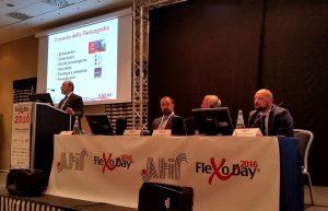 Sante Conselvan, presidente ATIF, apri i lavori del FlexoDay 2016