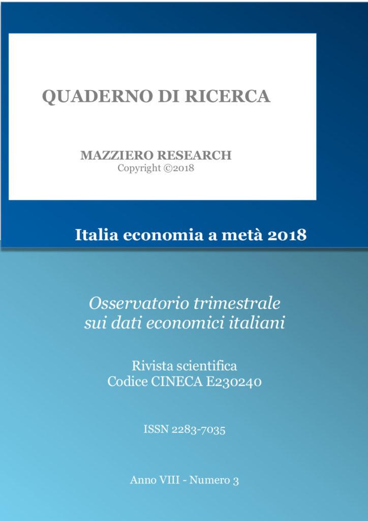 Mazziero Italia economia metà 2018
