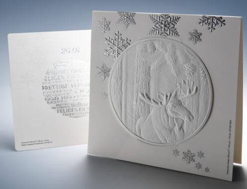 Un maestro della goffratura per la cartolina del Natale