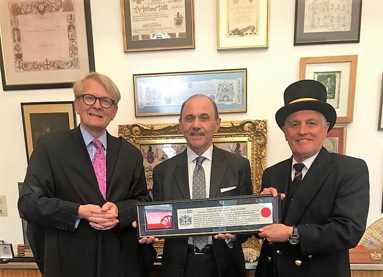 Sante Conselvan cittadino onorario di Londra