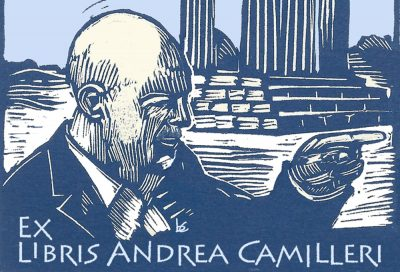 Camilleri exlibris xilo e computer grafica