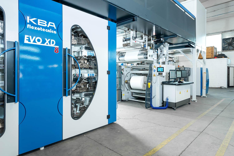 Da Koenig & Bauer Flexotecnica una flexo su misura per packaging Tetrapack