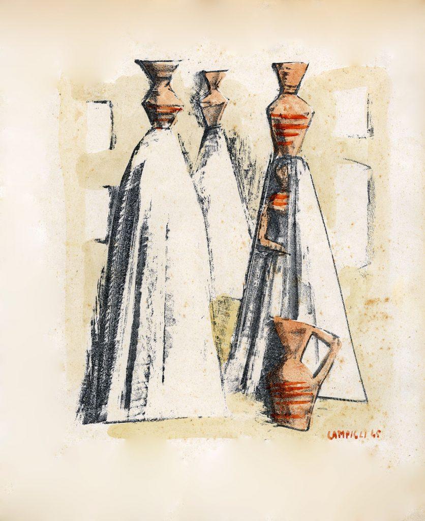 Massimo Campigli - Donne con vasi 1945