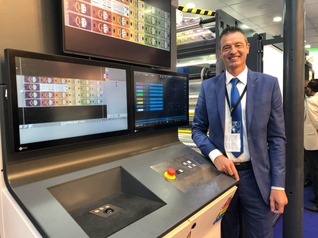 Mario Maggioni, Area Manager Latin Countries, sales manager who has the technical contacts for Soma flexo machines for the Grafikontrol systems