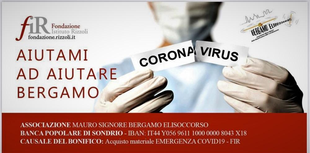 Fondazione Rizzoli invita a un aiuto per Bergamo