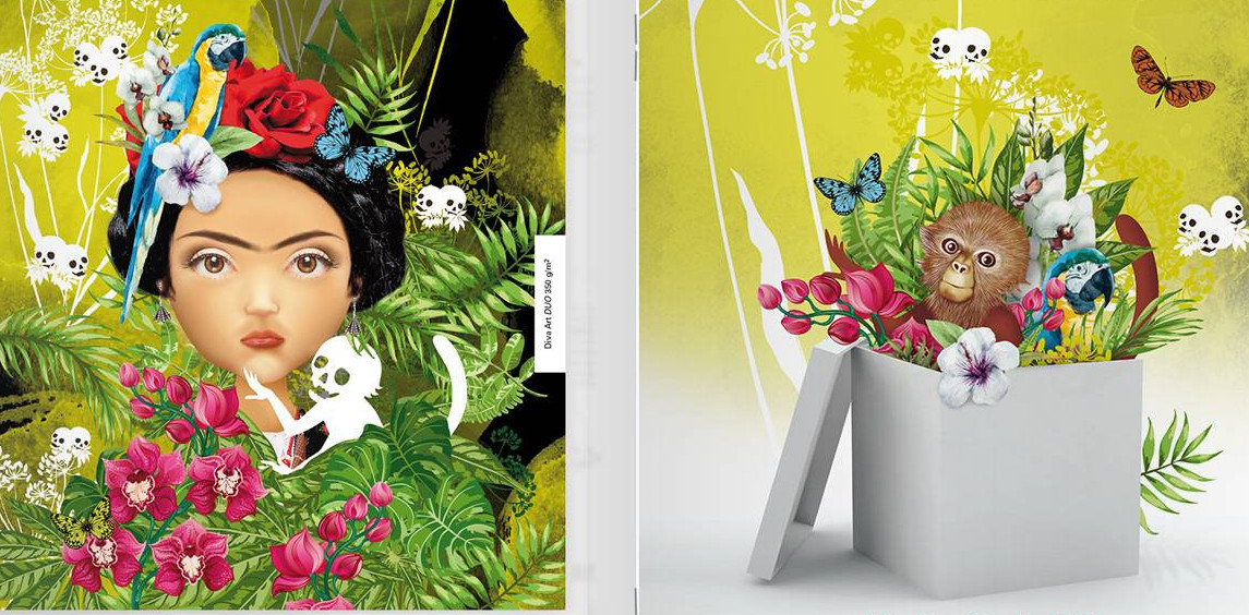 Leaflet Diva Art cartoncino