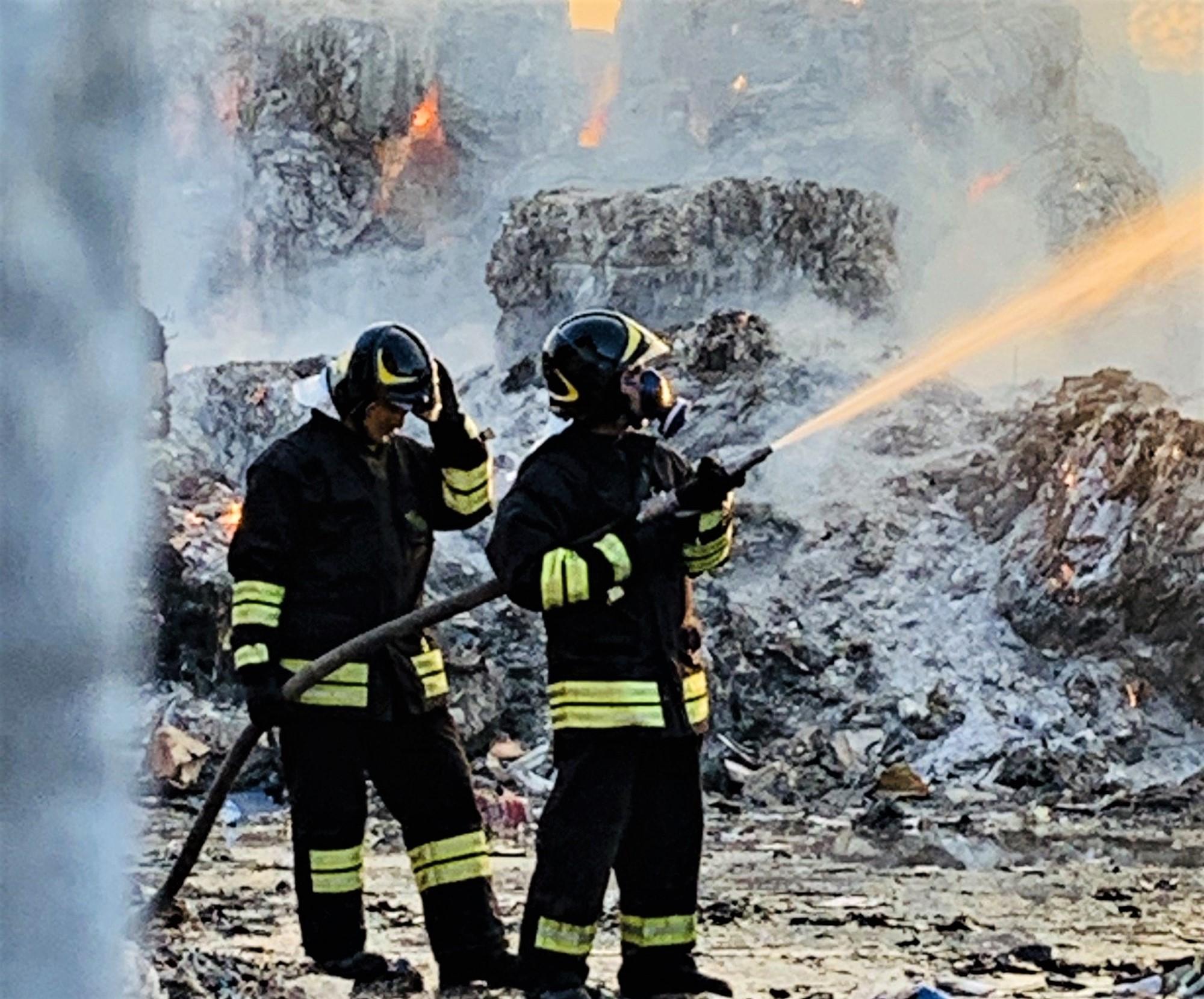 incendio macero Trevi