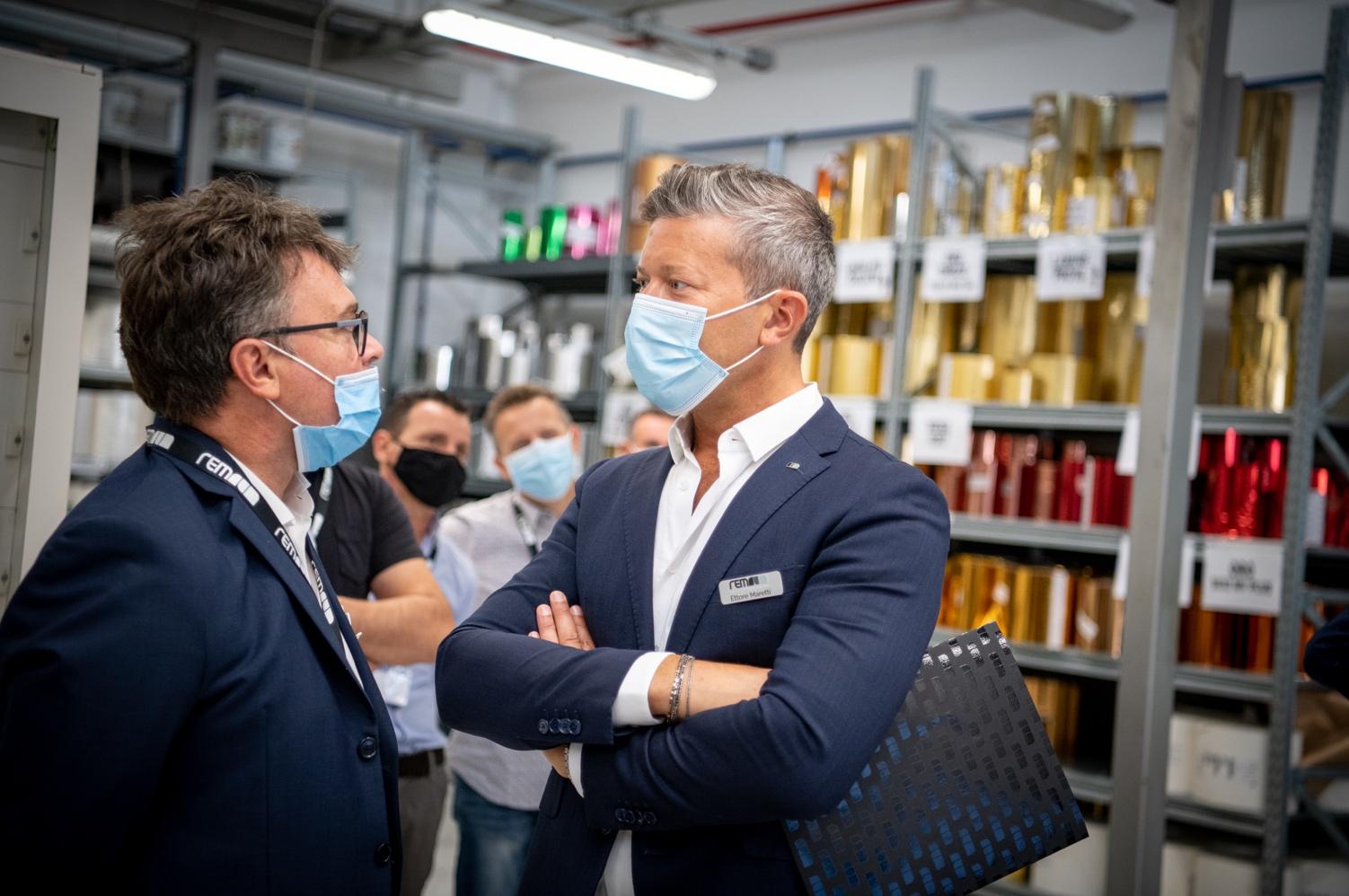 Roberto Cotterchio (a sx) con Ettore Maretti