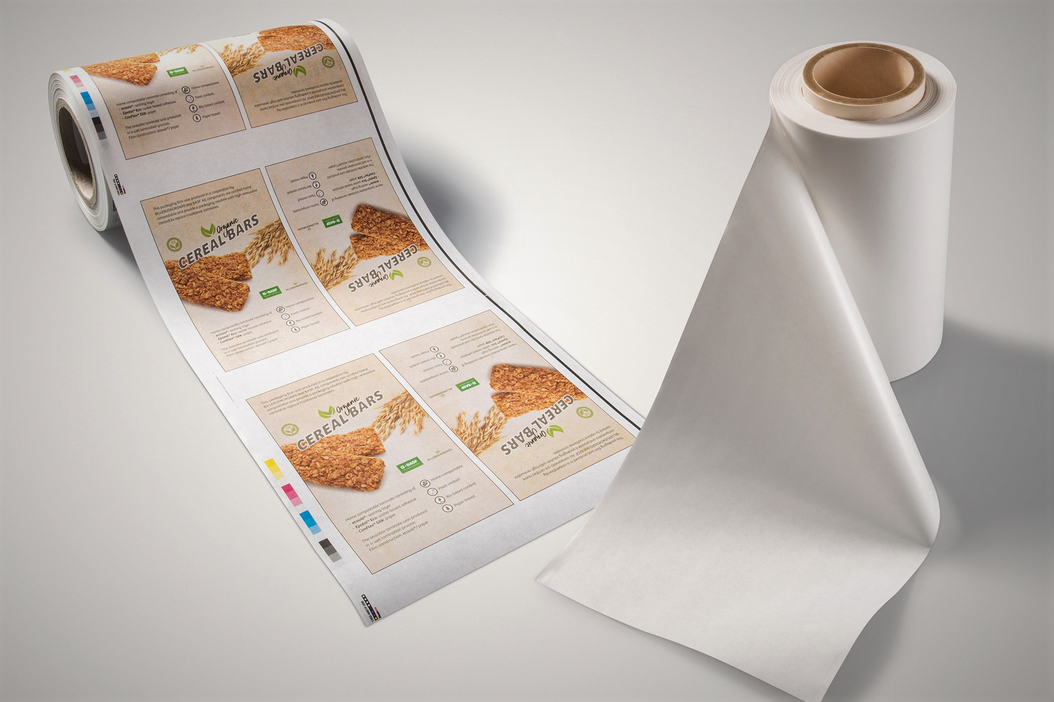 Compostable paper laminate for flexible packaging